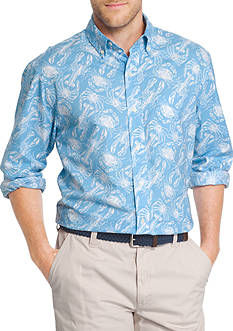 IZOD Crustation Oxford Long Sleeve Shirt