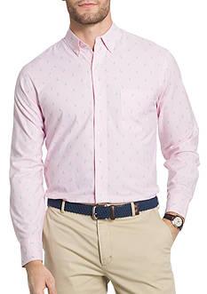 IZOD Long Sleeve Pelican Print Poplin Shirt