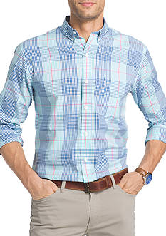 IZOD Long Sleeve Plaid Shirt