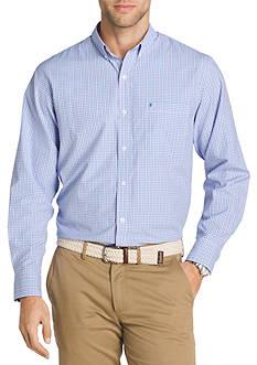 IZOD Long Sleeve Plaid Shirt