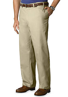 IZOD Big & Tall American Chino Comfort Fit Flat Front Non-Iron Pants