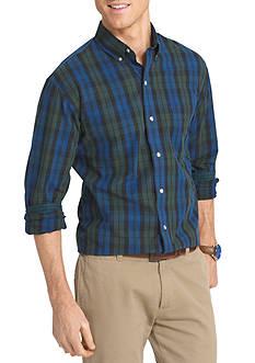 IZOD Big & Tall Tartan Plaid Non-Iron Shirt