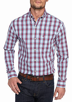 IZOD Big & Tall Long Sleeve Heritage Tartan Button Down Shirt