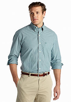 IZOD Big & Tall Long Sleeve Striped Essential Button Down