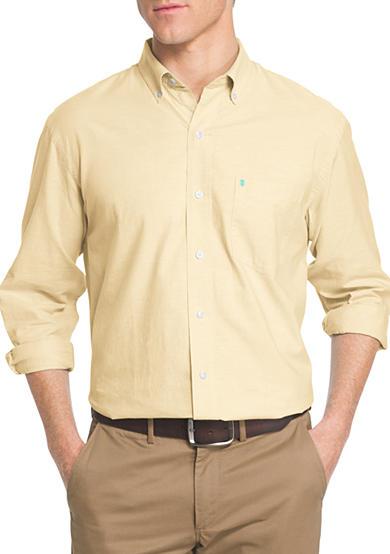 Izod big tall long sleeve oxford shirt belk for Big and tall oxford shirts