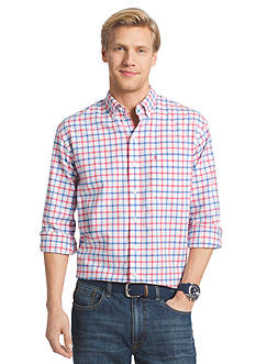 IZOD Big & Tall Long Sleeve Newport Oxford Woven Shirt