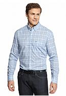 IZOD Big & Tall Long Sleeve Plaid Button Down