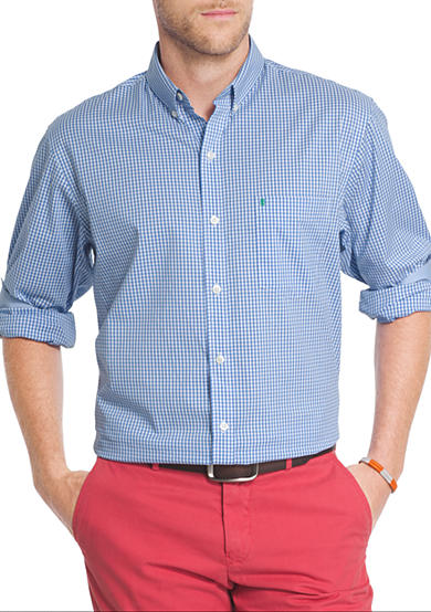 Izod big tall advantage stretch gingham shirt belk for Izod big and tall shirts