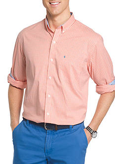 IZOD Big & Tall Advantage Stretch Gingham Shirt