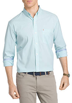 IZOD Big & Tall Advantage Stretch Striped Shirt