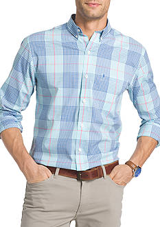 IZOD Big & Tall Long Sleeve Advantage Stretch Poplin Shirt