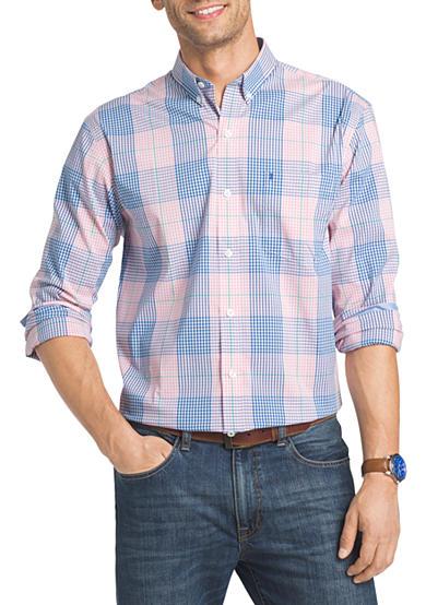 Izod big tall long sleeve advantage stretch poplin shirt for Izod big and tall shirts