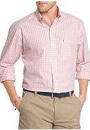 IZOD Big & Tall Essential Poplin Mini Check Shirt