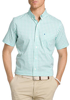 IZOD Big & Tall Advantage Gingham Short Sleeve Shirt