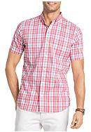 IZOD Big & Tall New Stretch Check Short Sleeve