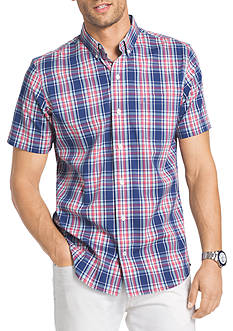 IZOD Big & Tall Advantage Stretch Gingham Shirt