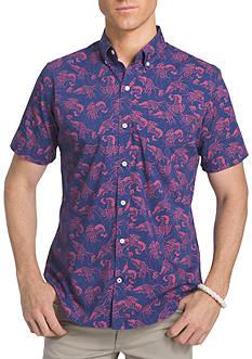 IZOD Big & Tall Advantage Print Short Sleeve Shirt