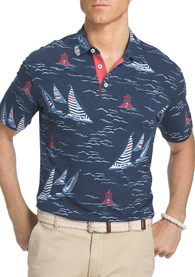 Izod big tall short sleeve sailboat button down shirt belk for Izod button down shirts