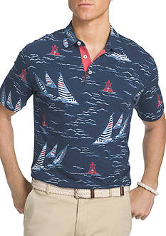 IZOD Big & Tall Short Sleeve Sailboat Button Down Shirt