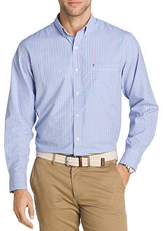IZOD Big & Tall Long Sleeve Breeze Plaid Shirt