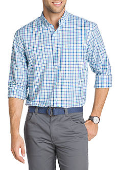 IZOD Big & Tall Long Sleeve Breeze Gingham Button Down