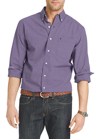 Izod big tall long sleeve essential button down shirt belk for Izod button down shirts