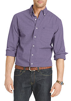 IZOD Big & Tall Long Sleeve Essential Button Down Shirt