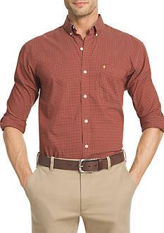 IZOD Big & Tall Long Sleeve Performance Advantage Non Iron Stretch Shirt