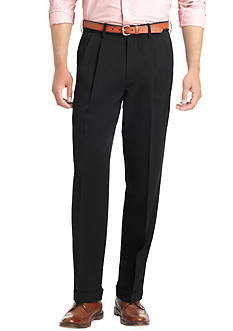 IZOD Big & Tall Ultimate Travel Pleated Wrinkle Resistant Pants