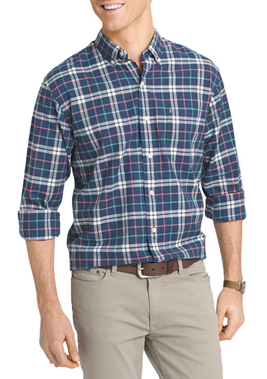 Izod big tall long sleeve newport oxford button down for Tall button down shirts