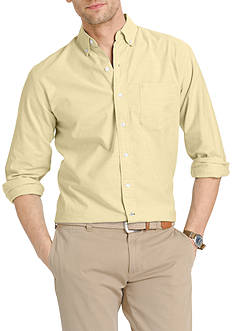 IZOD Big & Tall Long Sleeve Newport Oxford Button Down Shirt