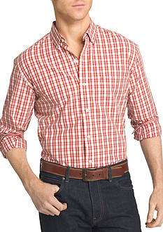 IZOD Big & Tall Advantage Stretch Plaid Shirt