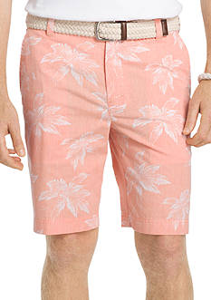 IZOD Big and Tall Leaf Reverse Print Shorts