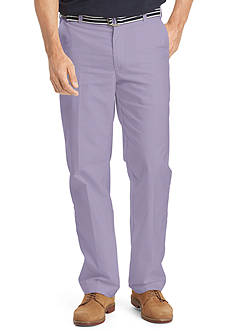 IZOD Big & Tall Flat Front Chambray Pants
