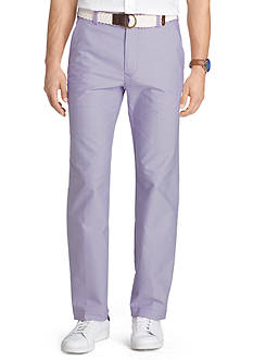 IZOD Big & Tall Straight-Fit Flat-Front Belted Oxford Pants