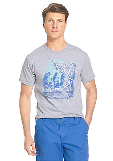 IZOD Big & Tall Short Sleeve Marlin Jumper Graphic Tee