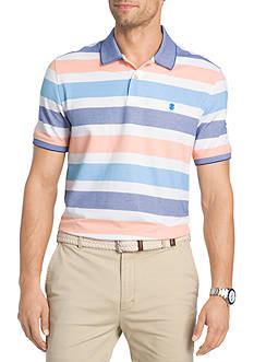 IZOD Big & Tall Short Sleeve Advantage Stripe Polo