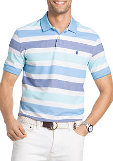 IZOD Big & Tall Short Sleeve Advantage Stripe Polo