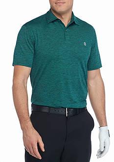 IZOD Big & Tall Self Collar Professional Heather Short Sleeve Polo Shirt