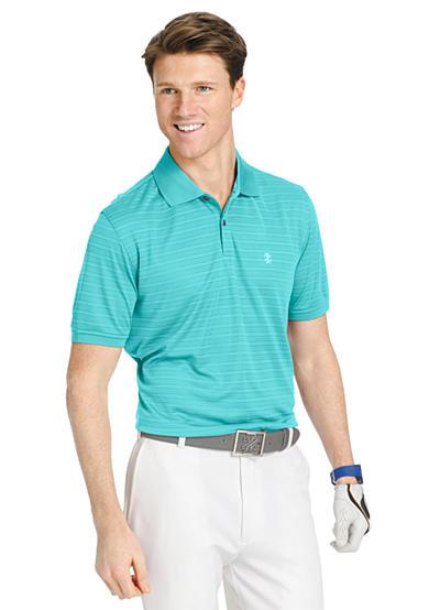 Izod big tall short sleeve stripe golf polo shirt belk for Large tall golf shirts