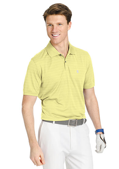 Izod big tall short sleeve stripe golf polo shirt for Large tall golf shirts