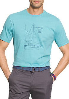 IZOD Big & Tall Short Sleeve Sun Island Graphic Tee