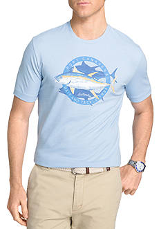 IZOD Big & Tall Big Fin Short Sleeve Graphic Tee