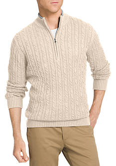 IZOD Big & Tall Durham 1/4 Zip Sweater
