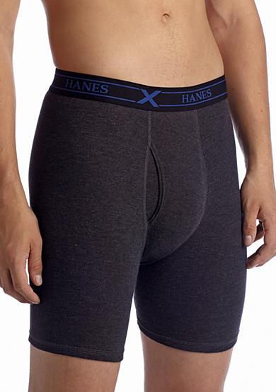 Hanes® 4-Pack Platinum X-Temp™ Long Leg Boxer Briefs | Belk