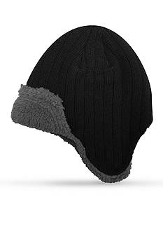 Totes Isotoner Ribbed Peruvian Cap