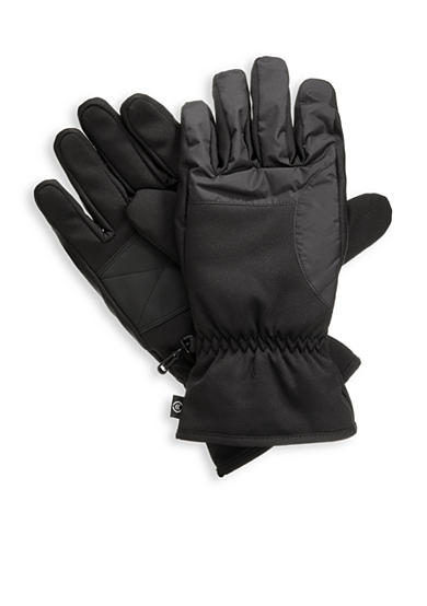 Totes Isotoner Waterproof Ski Stretch PolyTwill Nylon Gloves