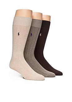 Polo Ralph Lauren Combed Cotton Crew Socks - 3 Pack