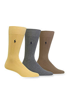 Polo Ralph Lauren Combed Cotton Crew Socks - 3 Pack