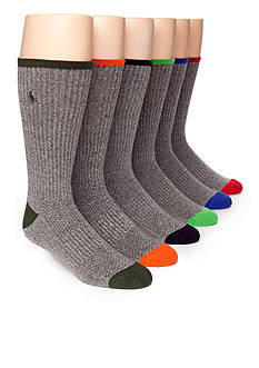 Polo Ralph Lauren 6-Pack Technical Sport Crew Socks